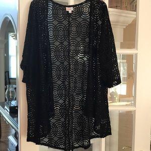 LuLaRoe black lace Lindsay